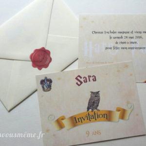 Invitation Harry Potter - Fêtes vous même