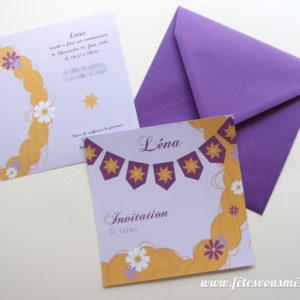 Invitation Raiponce