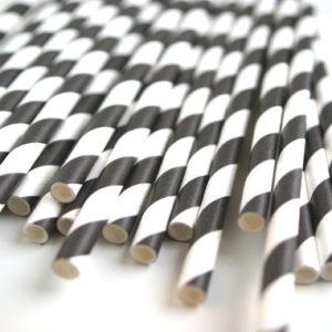 pailles-rayures-noir-blanc