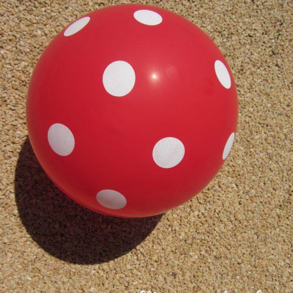 Ballons rouges à pois blancs champignons - Fêtes vous même