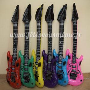Guitare gonflable Rock Party - Fêtes vous même