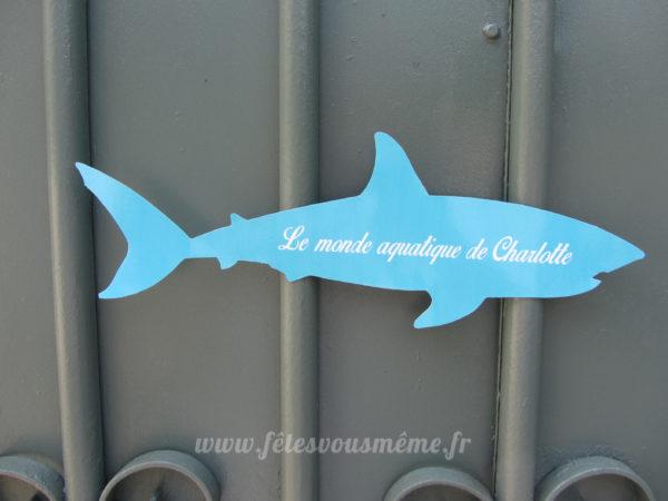 Kit anniversaire Sirène- Monde la mer - pancarte porte - Fêtes vous même