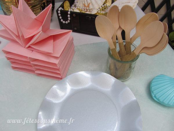 Cuillères bois pailletées or - Vaisselle - Fêtes vous même