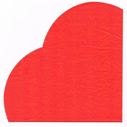 Serviettes coeur détail - Fêtes vous même