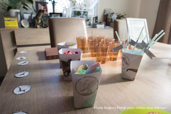 kit déco Jurassic - boites popcorn - Fêtes vous même