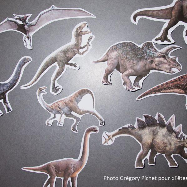 kit déco Jurassic - dinosaures découpés - Fêtes vous même