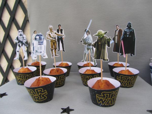 Kit déco Star Wars - caissettes cupcakes - Fêtes vous même