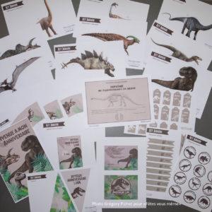 kit déco Jurassic - imprimé - Fêtes vous même