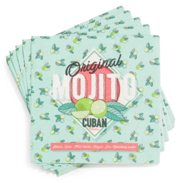 Serviettes papier Mojito - Fêtes vous même