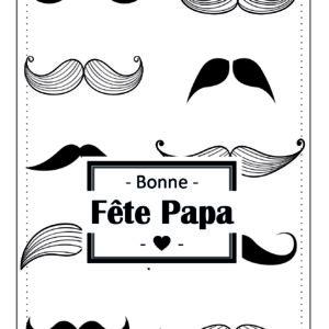 Carte Moustache - Fête des Pères - Fête vous même.