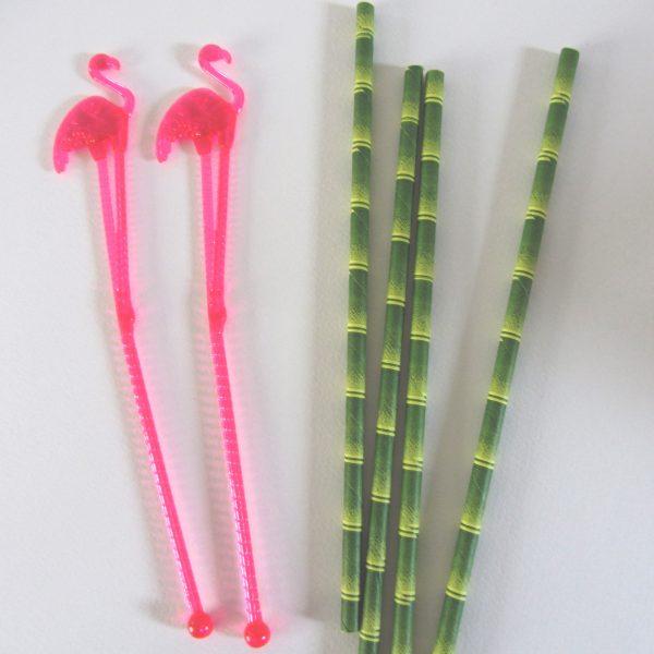 Kit Cocktail Mojito - agitateurs et pailles bambou - Fêtes vous même