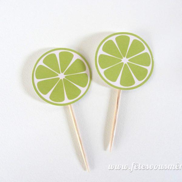 Kit Cocktail Mojito - Pique cocktail citron vert- Fêtes vous même