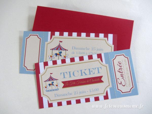 Invitations Fête Foraine 2 - Fêtes vous même
