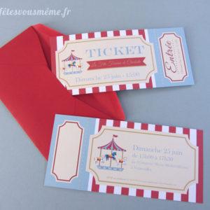 Invitation Fête Foraine - Fêtes vous même