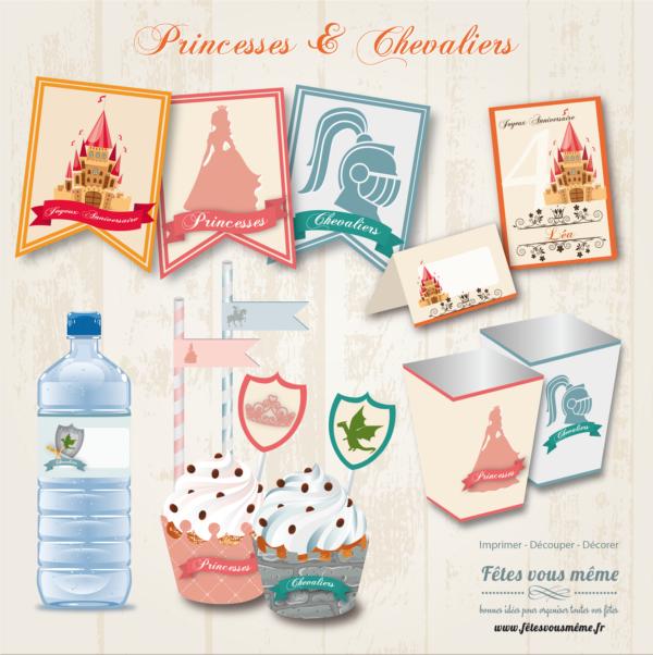Kit déco Princesse & Chevalier - Fêtes vous même